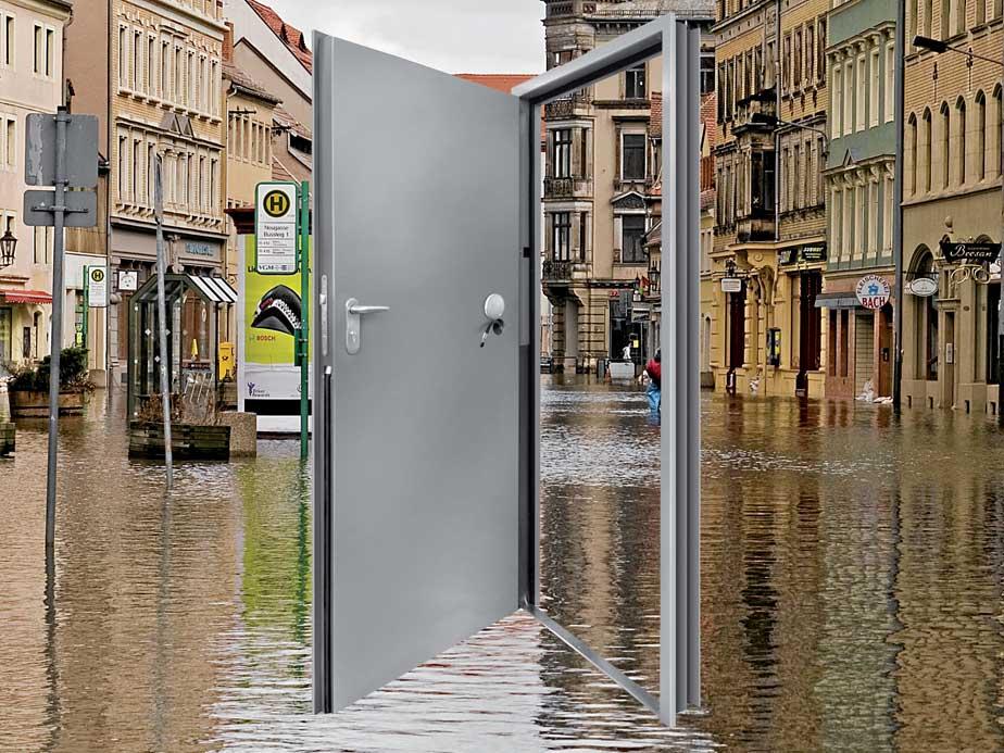 Porta di protezione a tenuta d'acqua